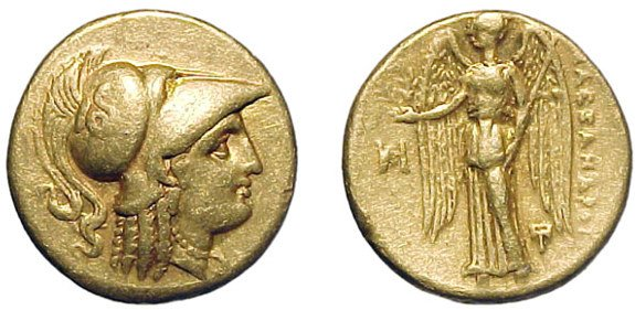 10: Alexander the Great. 336 – 323 BC. Gold Stater, c.3