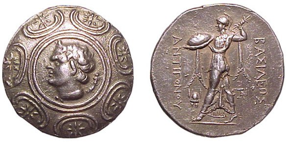 20: Antigonos Gonatas AR Tetradrachm. 277-239 BC. 16.81