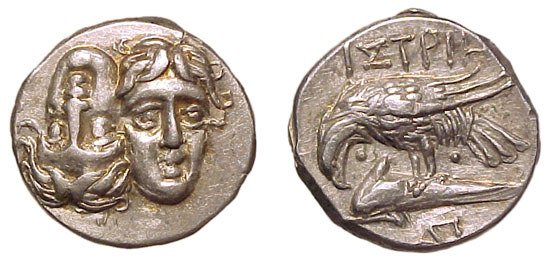 21: Moesia, Istros. 400 – 350 BC. AR Stater. 5.99g. Two