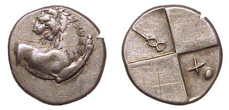 22: Thrace, Cherronesus. 400 – 350 BC. AR Hemidrachm. 2