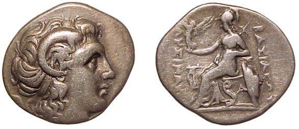 24: Lysimachos 323 – 281 BC. AR Drachm. Struck 294-287