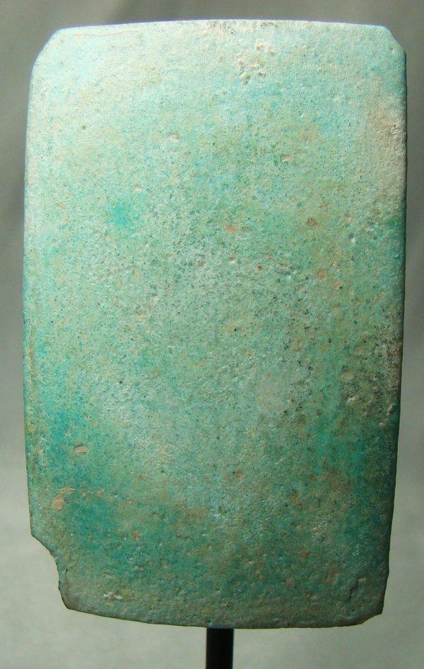 3: Egypt, Old Kingdom, a rare blue faience tile