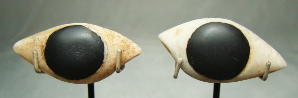 "9: Egypt, Third Intermediate, set of ""eyes"" as inlays"