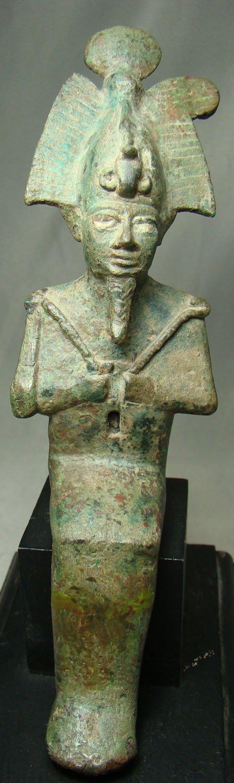 10: Egypt, Late Period, a choice bronze of Osiris