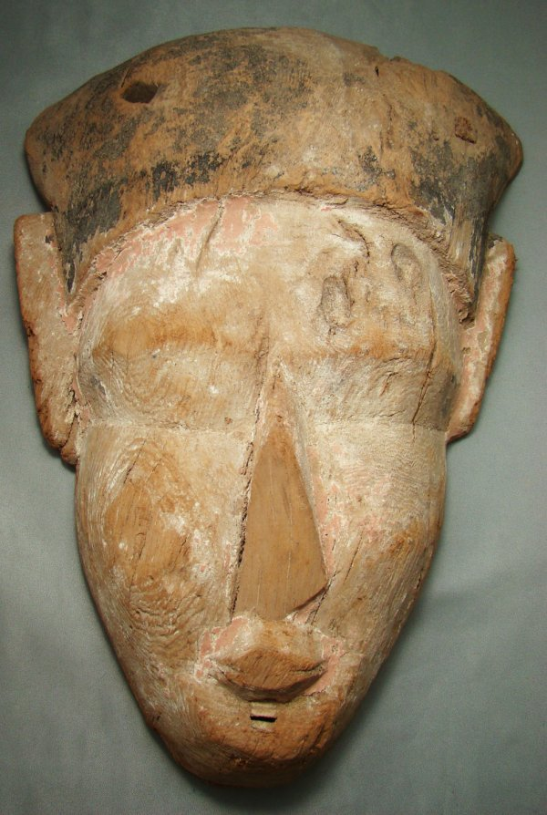 14: Egypt, Late Period, a nice wood coffin mask