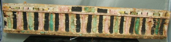 16: Egypt, Late Period, a colorful wood chair rung