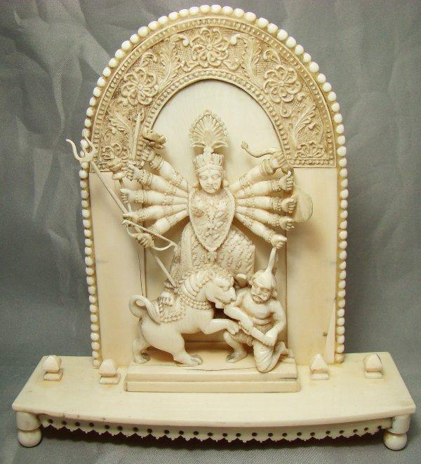 189: India, Late 1800's, Ivory Hindu Goddess Kali