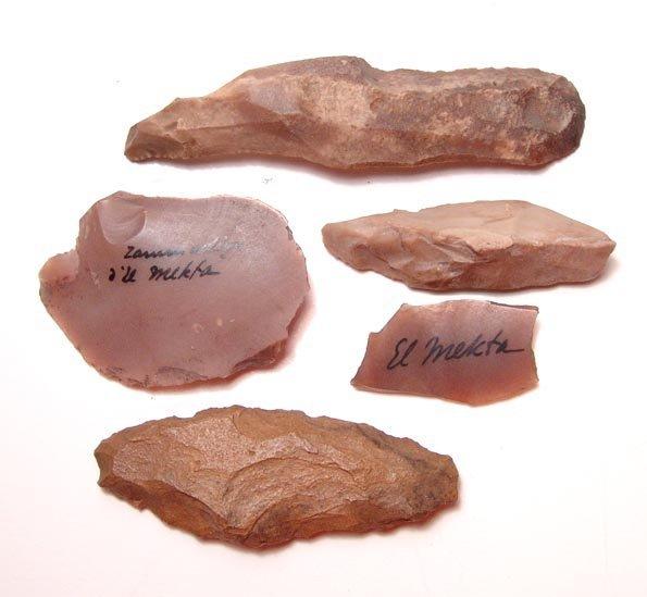 1: Tunisian Neolithic, 3 stone tools