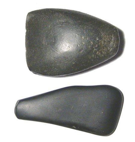 8: Egypt, Old Kingdom, 2 basalt polishing stones
