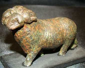 47: Egypt, Late Period, a RARE four-headed bronze ram
