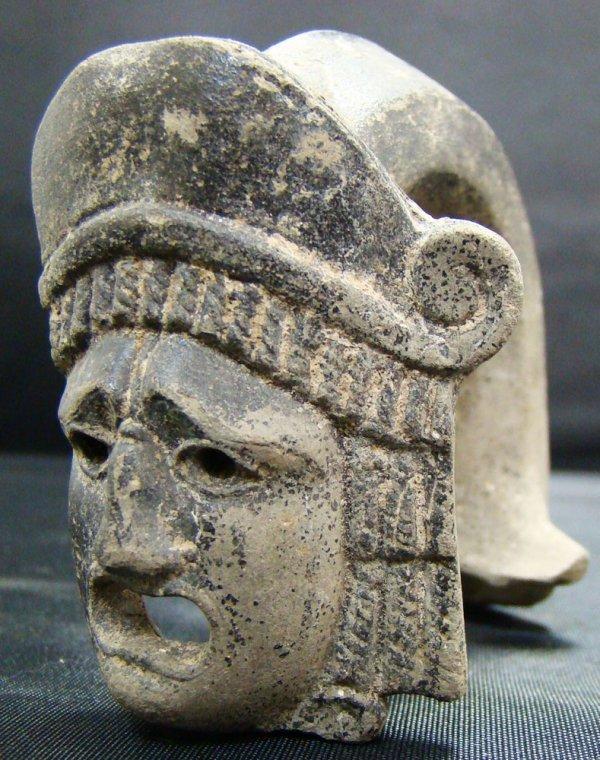 """68: Roman, c. 100-300AD., terra cotta """"actor's"""" mask"""