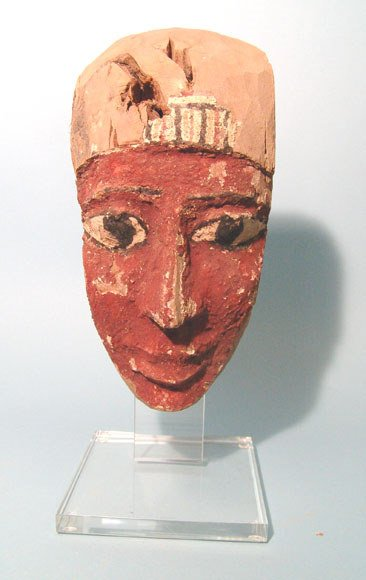 12: Egypt, Late Period, 664 – 323 BC. A wooden facial p