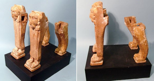 13: Egypt, Late Period, 664 – 525 BC. A set of 4 wooden