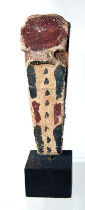 16: Egypt, Late Period, 664 – 30 BC. A wooden uraeus cu