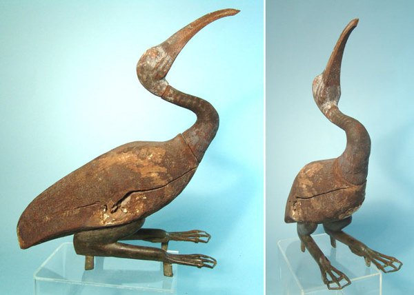 17: Egypt, Ptolemaic Period, c. 300 BC. A wooden ibis w