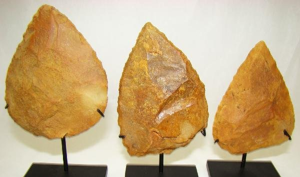 1: Neolithic Europe, 3 Stone Spear Heads