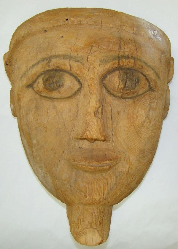 15: Egypt, Late Period, large wood MASK
