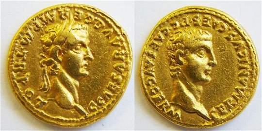 278: CALIGULA, 37-41AD., RARE GOLD AUREUS