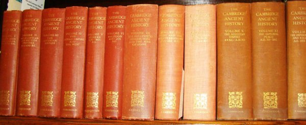 6: Bury, J.B. The Cambridge Ancient History. 17 Volumes
