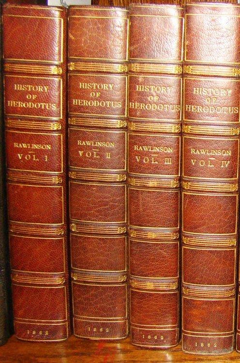 15: Rawlinson, George. History of Herodotus. 4 Volumes.