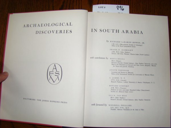 896: Bowen, Richard LeBaron & Albright, Frank P. Archae