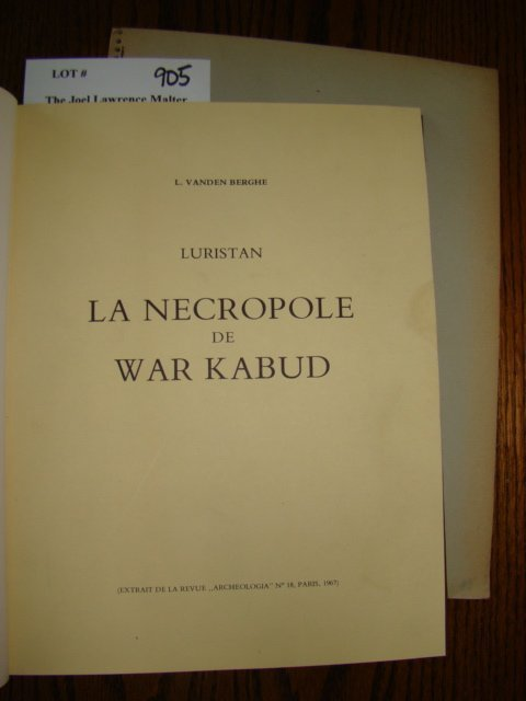 905: Berghe, L. Vanden. A nicely bound set of extracts