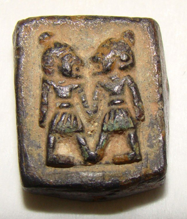 2: Syria / Egypt, fabulous semi-square bronze weight