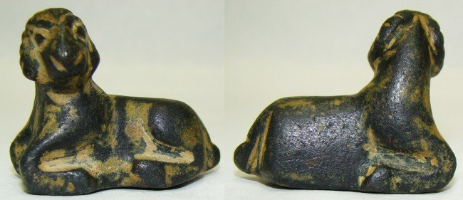 6: Syria / Egypt, choice facing bronze ram weight