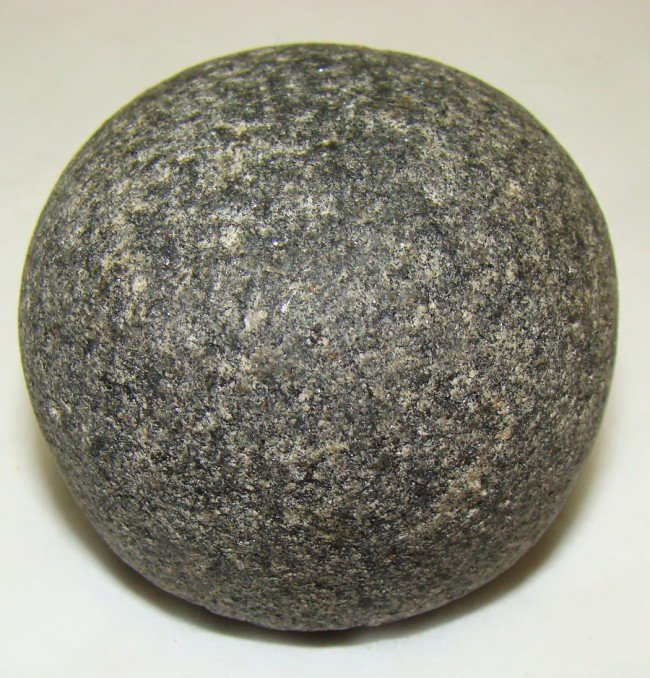 """23: Egypt, a nice 1 """"Deben"""" domed granite weight"""