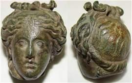 60: Roman, an exquisite small bronze steelyard weight