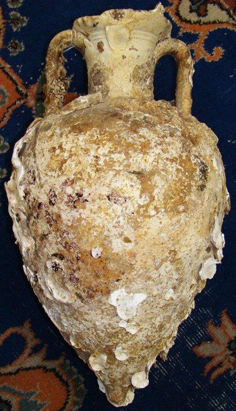 153: Greco-Roman, large crème slip wine amphora