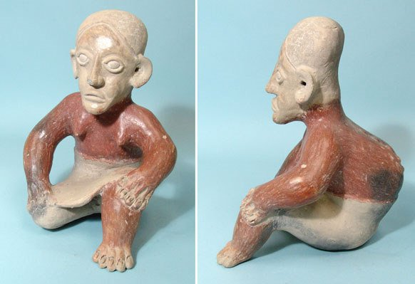 4: West Mexico, Jalisco, Seated Hunchback Figure