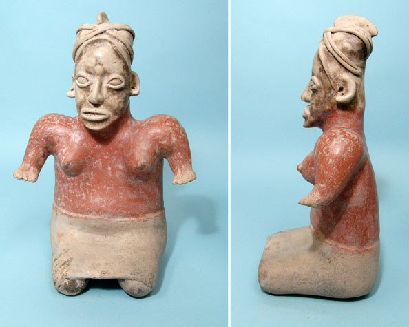 5: West Mexico, Jalisco, Seated Female Figure