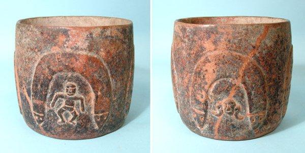 "8: West Mexico, Colima, ""Snake"" Cylinder Bowl"