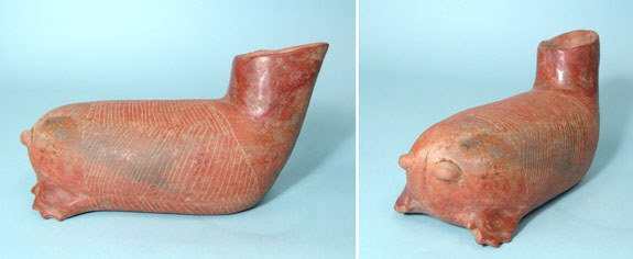 10: West Mexico, Colima, Interesting Animal Vessel