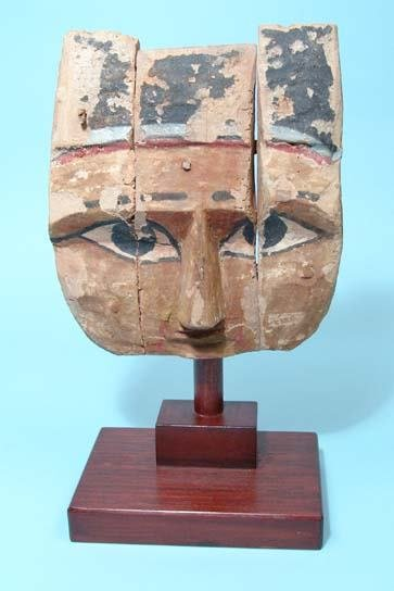 """4: Painted Wooden """"Mask""""."""