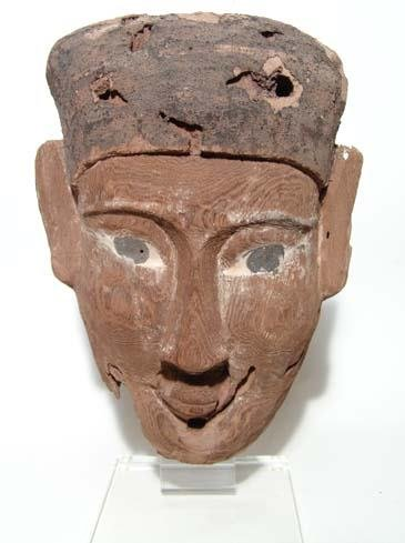 """6: Mounted Wooden """"Mask""""."""