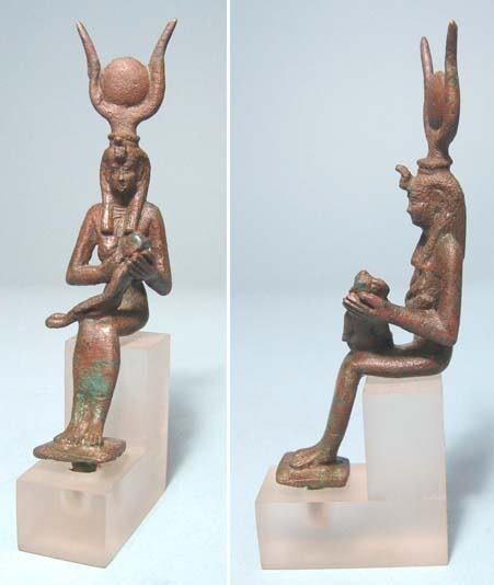 13: Choice Bronze Statue of Isis.