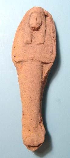 19: Nicely Molded Terracotta Ushabti.