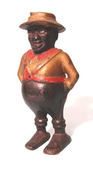 2004: Antique cast iron bank in the form of a soldier s