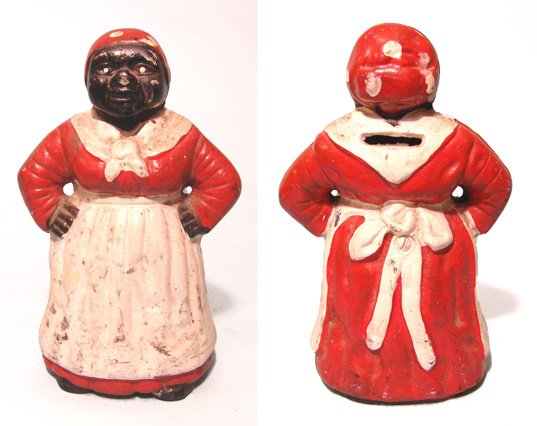 2015: Aunt Jemima bank. She stands with her hands on he