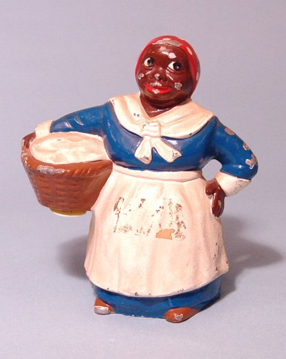 2016: Bama bank. Aunt Jemima clad in blue and white lon