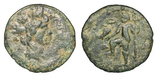 1: Carteia. Under Roman Rule. c. 204 - 154 BC. Æ Semis.