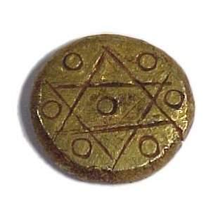 ISLAMIC, Mamluk, c. 1200 AD. A gold round