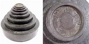 ENGLAND, 1826, a rare bronze set of stack
