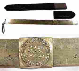 205: England, 1753, Darby Steelyard for Gold
