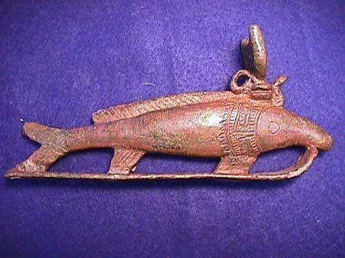 612: Egypt, 26th Dynasty bronze fish