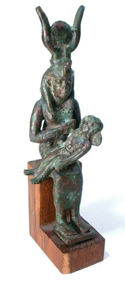 13: Late Period, 760 - 343 BC. A bronze statu