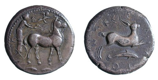 133: Messana. c.420 - 413 BC. AR Tetradrachm.