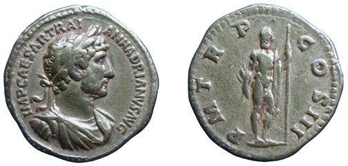 309: Hadrian. 117 - 138 AD. Gold Aureus, 121